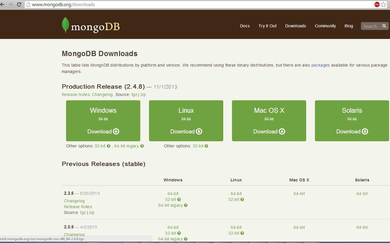 MongoDB Download